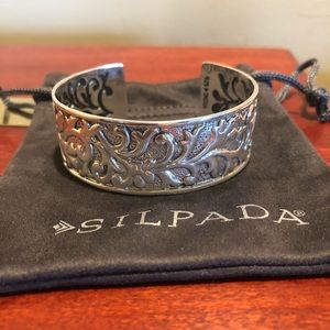 Silpada Ahead Of The Curve Sterling Cuff Bracelet